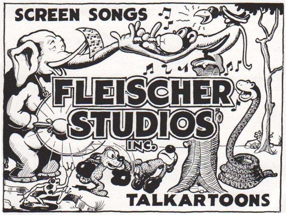 Fleischer Studios advertisement