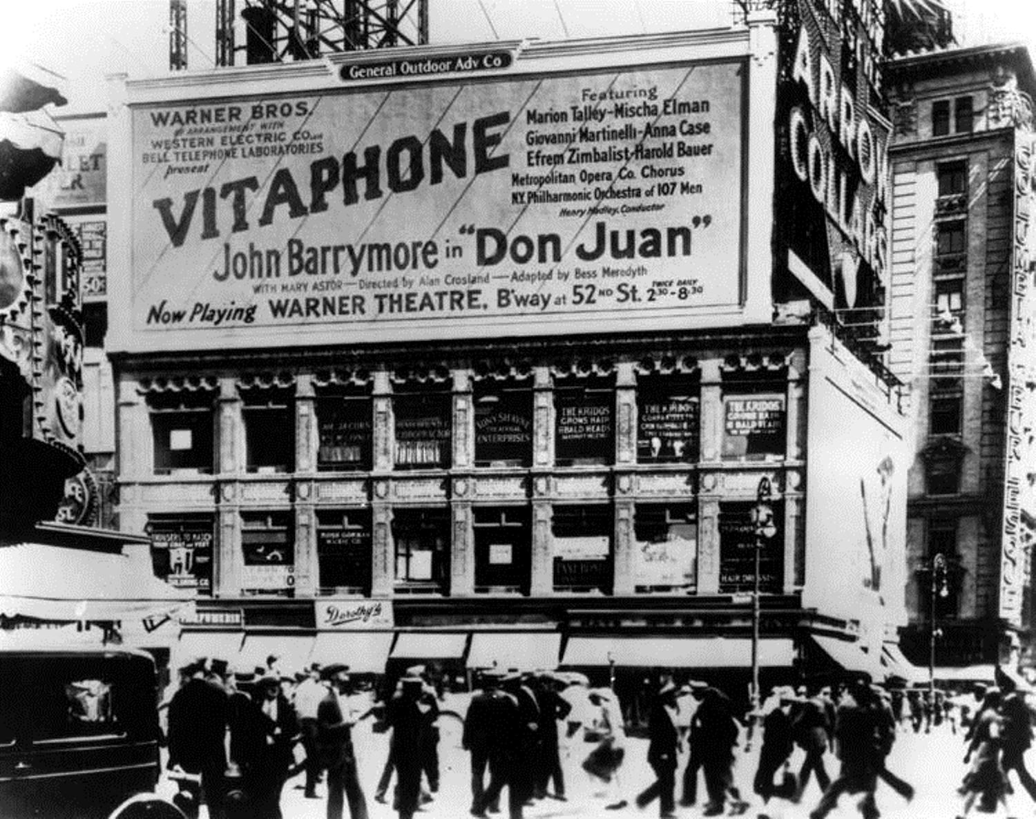1926 premiere of Don Juan in NYC.
