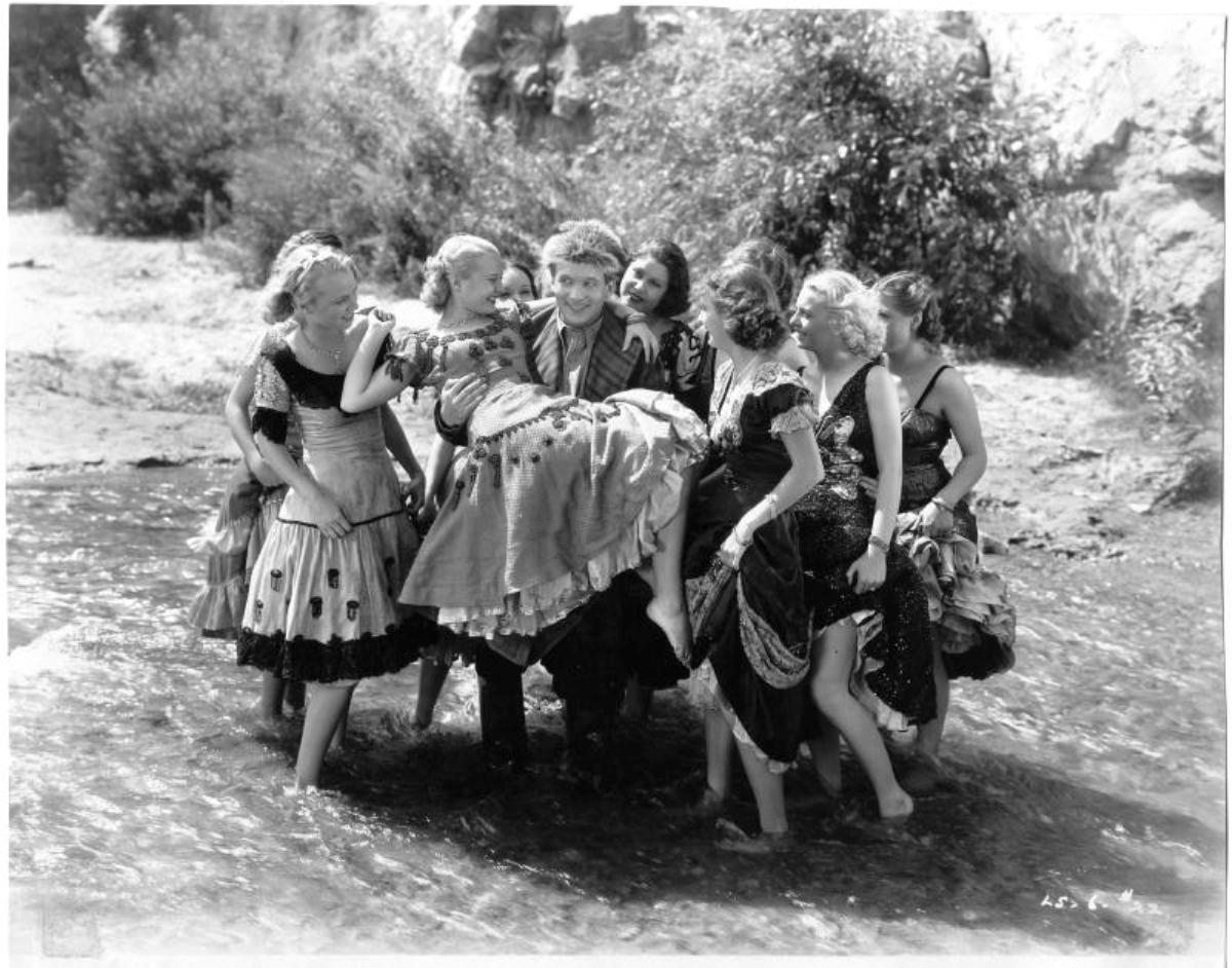 El Brendel, ALWAYS the ladies man, from the Vitaphone short THE LUCKY SWEDE