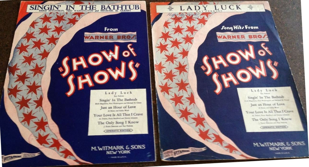 Show of Shows Sheet Music