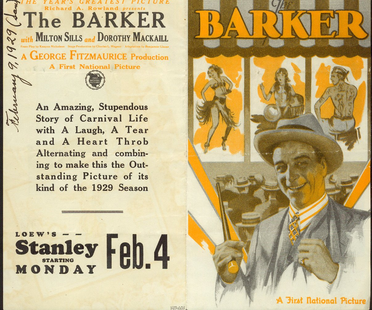 Flyer for The Barker