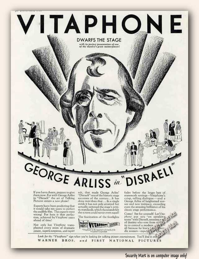 Advertisement for Disraeli