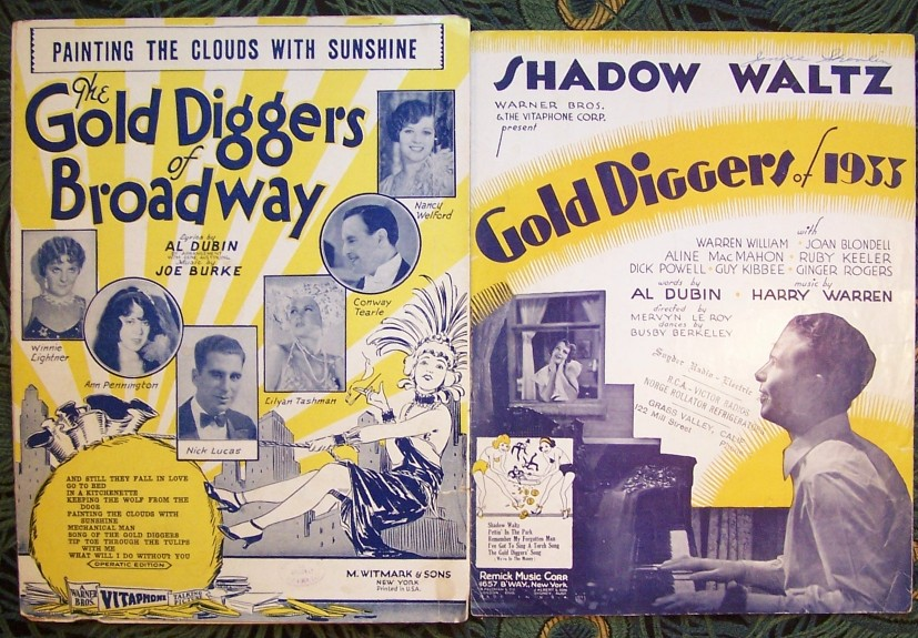 Sheet Music for Gold Diggers of Broadway & Gold Diggers of 1933