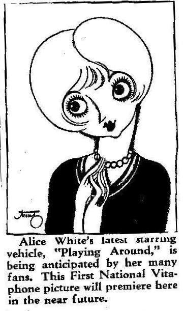 Ad for Alice White in Playing Around
