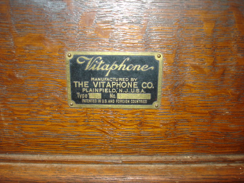 Original wooden Vitaphone record cabinet.  Measures 14x14x7